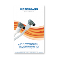 Hirschmann Koka799 Coaxkabel 1,5 meter met coax connector male en female